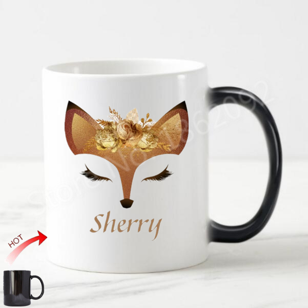 Aliexpress Com Buy Chic Funny Fox Face Personalized Coffee Mug Tea