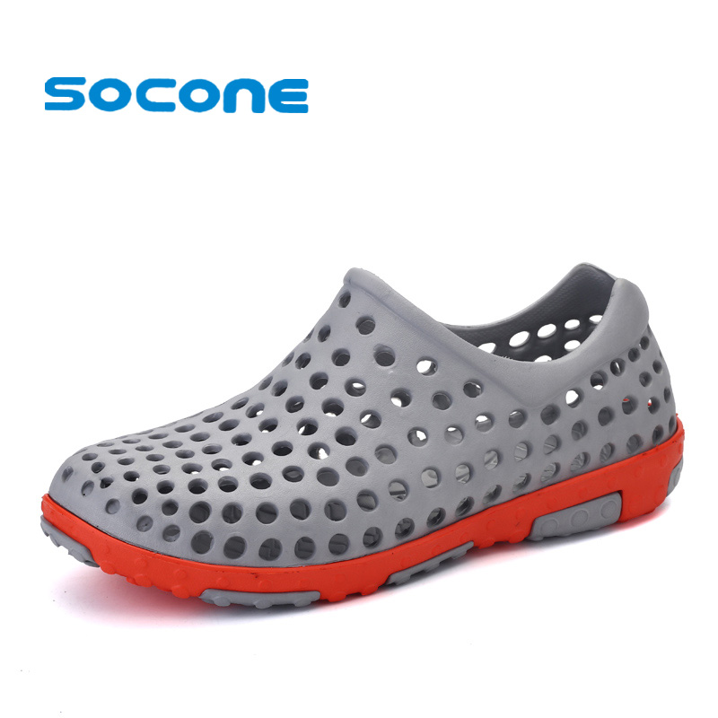 Socone 2019 Slip On Sandal Outdoor Men Shoes Pool Aqua Walking Sneakers Breathable Summer Beach Shoes Mens Pull On Water Shoes
