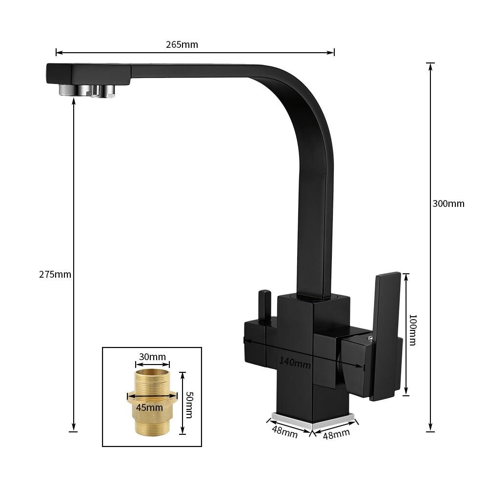 Robinets de cuisine pont monté mélangeur robinet 360 degrés Rotation avec Purification de l'eau caractéristiques mélangeur robinet grue pour WF-0178 de cuisine - 3