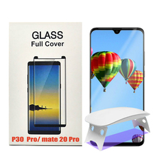 UV Full Glue Screen Protector For Huawei Mate 20 Pro P20 Mate20 Tempered Glass Liquid for P30 Film