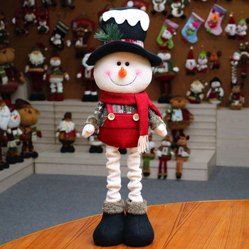 Snowman Decotation Doll For Christmas Table Telescopic Ornaments For Xmas Decoration New Year Party Supplies 2pc kerst decoratie