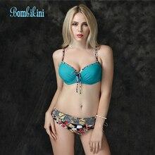 Large size bikinis women bathing suit Sexy high waist bikini set Push up biquini swimwear brazilian