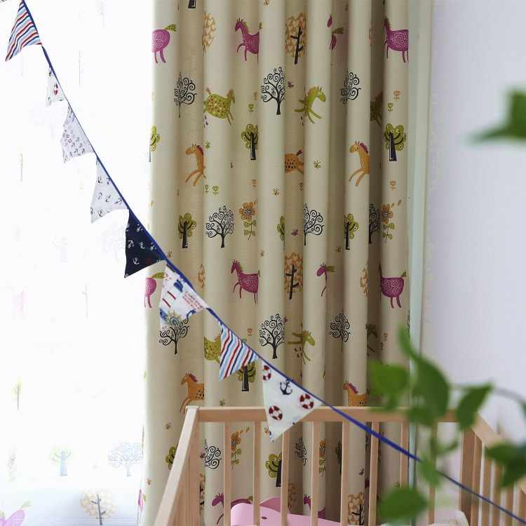 Cartoon  Curtains for Living Dining Room Bedroom Shade Boy Girls Kid Curtains Children 's Room Floating Curtains Tulle