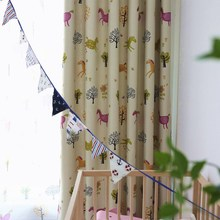 Cartoon  Curtains for Living Dining Room Bedroom Shade Boy Girls Kid Children s Floating Tulle