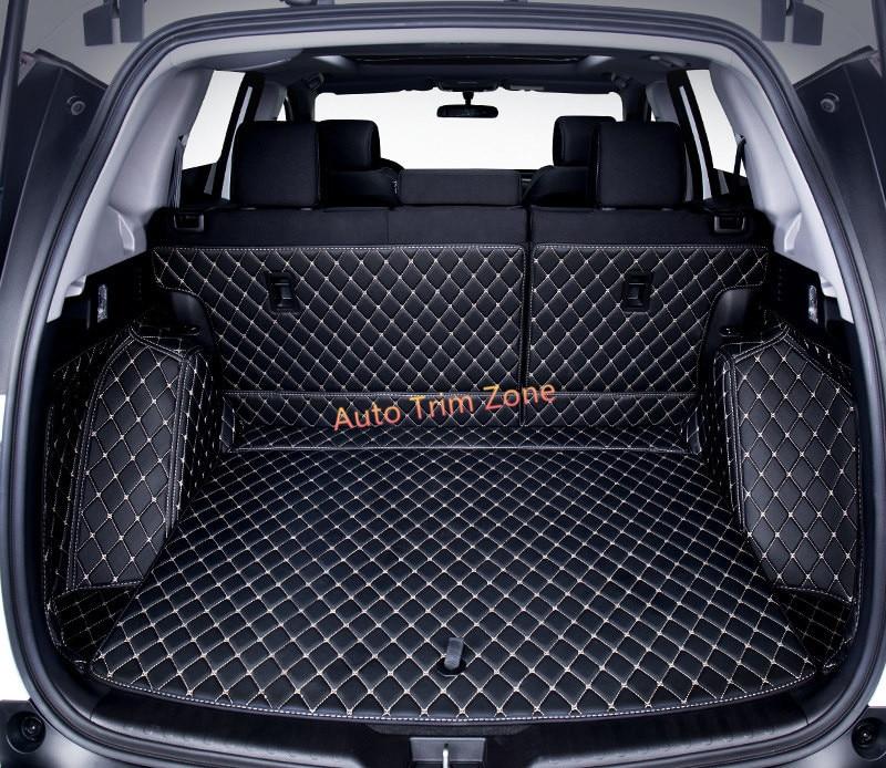 Crv 2017 Interior >> Interior Black Leather Rear Trunk Boot Mat Carpet For Honda CR V CRV 2017 2018 on Aliexpress.com ...