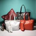 Europa diseñador de la Marca bolsas femininas Mujeres bolso de las señoras de Cuero Bolsa de Cocodrilo Patrón de Bolso de Mano Femenino Bolsa 2 en 1