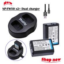Novo 2 x baterias + NP-FW50 FW50 NP carregador Duplo para Sony NEX-7 NEX-5 SLT-A55 A33 A55 A37 A5000 A5100 A6000 A3000 A7000 A6300