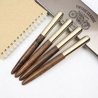 Роскошные подарки деревянные + металлические шариковые ручки и перьевые ручки 0,5 мм синие и черные чернила для офиса и письменные принадлеж...