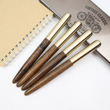 Luxury Gifts Wooden+Metal Ballpoint Pen & Fountain Pens 0.5MM Blue & Black ink For Office & School Writing Supplies Ball pen unique black ink resin ballpoint pen classic design luxury pen gold silver clip office school writing stationery supplies gifts
