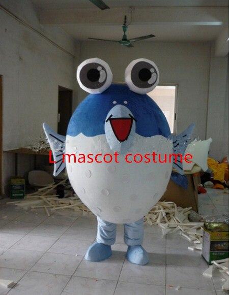 Usine Direct mode gros œil intelligent bleu mer poisson fantaisie robe mascotte Costume adulte personnage Cosplay Costume livraison gratuite