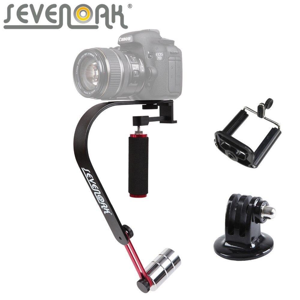 Sevenoak SK-W02 stabilisateur vidéo à prise de main pour Nikon Canon 600D caméra Sony Panasonic caméscope DV iPhone 7 GoPro