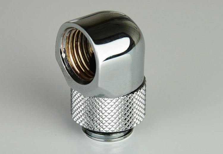 BYKSKI silverversion G1 / 4 Plugg / slangmontering / OD14mm - Datorkablar och kontakter - Foto 4