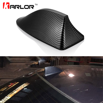 Shark Fin Antenna Carbon Fiber Car Shark Fin Roof Antenna Radio FM/AM Aerials for BMW E46 E39 E90 F30 E60 E36 F10 E34 E30 F20 image