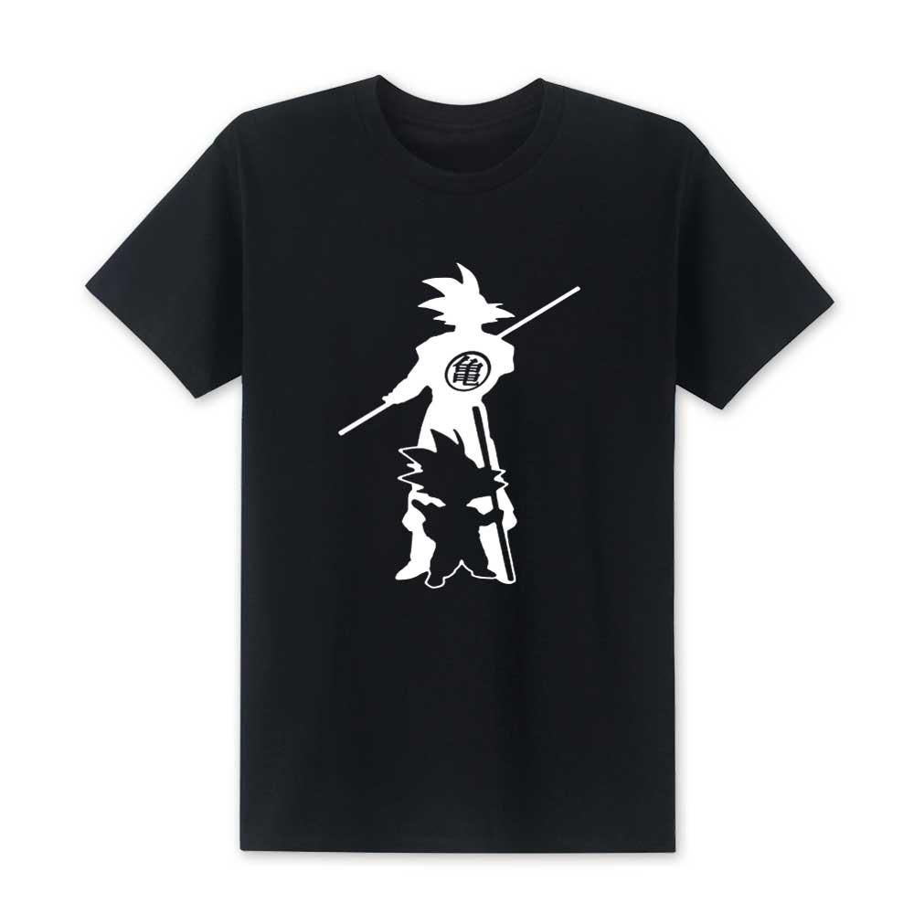 2019 New Fashion Arrive Japan Anime Dragon Ball Z T Shirt Super Saiyan Men Son Goku Tees Tops Men Clothes Plus Size XS-XXL