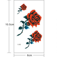 Fashoion Women Flowers Tattoo Transferable Fake 3D Body Art Tatoos Neck Arms Sleeve Rose Temporary Tattoo Sticker NEW 3.21(China)
