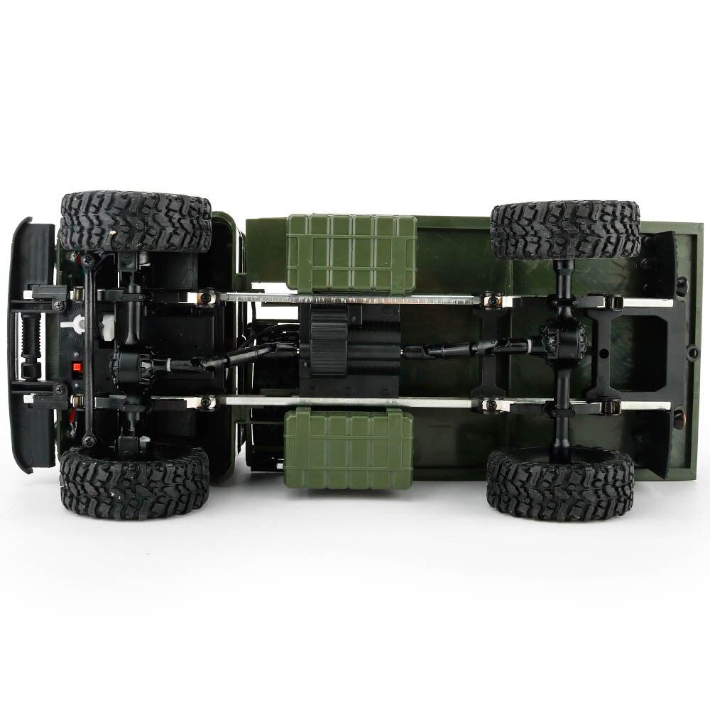 B 24 WPL 24 GHz 1 16 Mainan Kelas 4WD RC Militer Hijau Truk