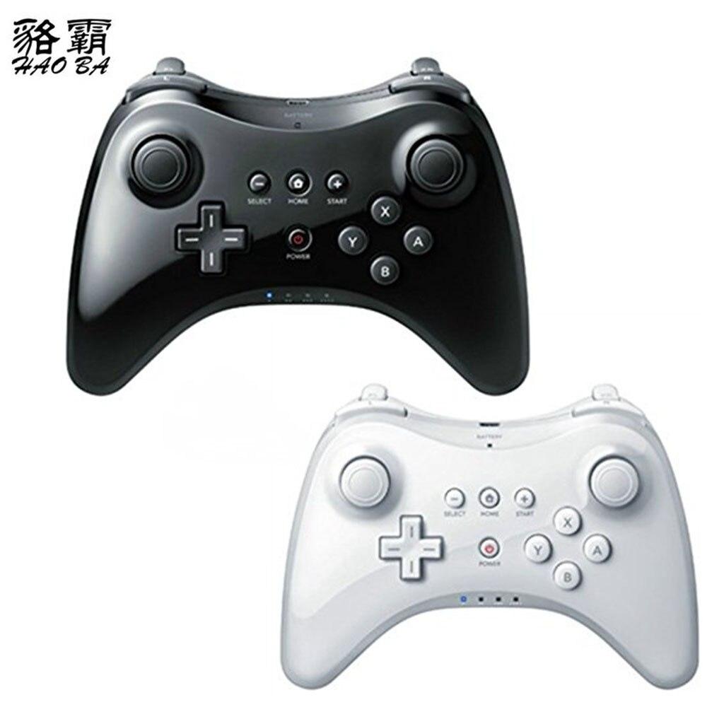 HAOBA Classique bluetooth sans fil gamepad contrôleur joystick pour wii u pro jeu à distance console wiiu version Améliorée