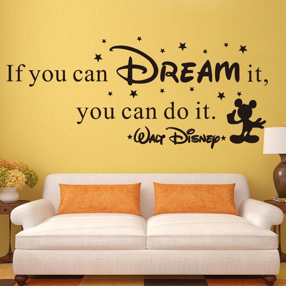 Kinderzimmer Mickey 3D Tapeten Englisch Letters Wand Aufkleber ...