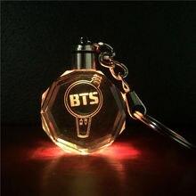 BTS LED Light Keychain