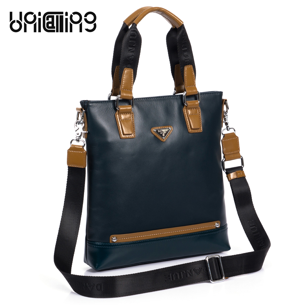 Men genuine leather bag brand fashion vertical men leather shoulder handbag business men crossbody messenger bag cow leather