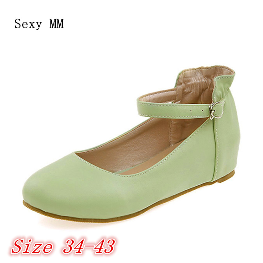 Slip On Shoes Women Loafers Girl Height Increasing Flats Woman Flat Shoes Soft Comfortable Shoes Plus Size 34 - 40 41 42 43 tangnest women flats 2017 summer style casual pointed toe slip on flat shoes soft comfortable shoes woman plus size 35 40 xwc267