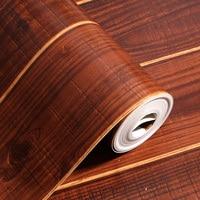 2017 nieuwe hot simulatie van vloer hout behang Nieuwe Chinese stijl klassieke hout muurstickers Zoete studie TV instelling muur papier