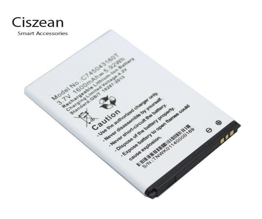 ciszean 5x 3 7v 1600mah replacement c745043160t battery for blu rh aliexpress com