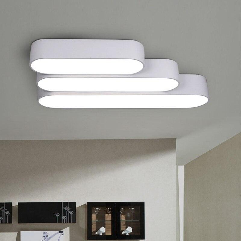 LED Moderna Lampada Della Luce di Soffitto di Superficie di Montaggio A Filo Ovale Apparecchio di Illuminazione Soggiorno Camera Da Letto Ufficio