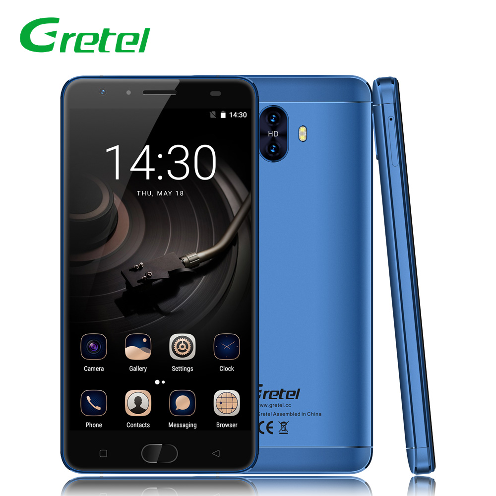 Gretel GT6000 5.5 Inch 4G LTE Smartphone Android 7.0 MTK MT6737 Quad Core 2+16GB 6000mAh 13.0MP Dual Camera Unlock Mobile Phone