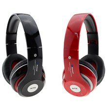 Wireless Bluetooth Headphones Stretch Headset Stereo Foldable Earphone with Microphone Support TF Card FM for Cellphone iPhone