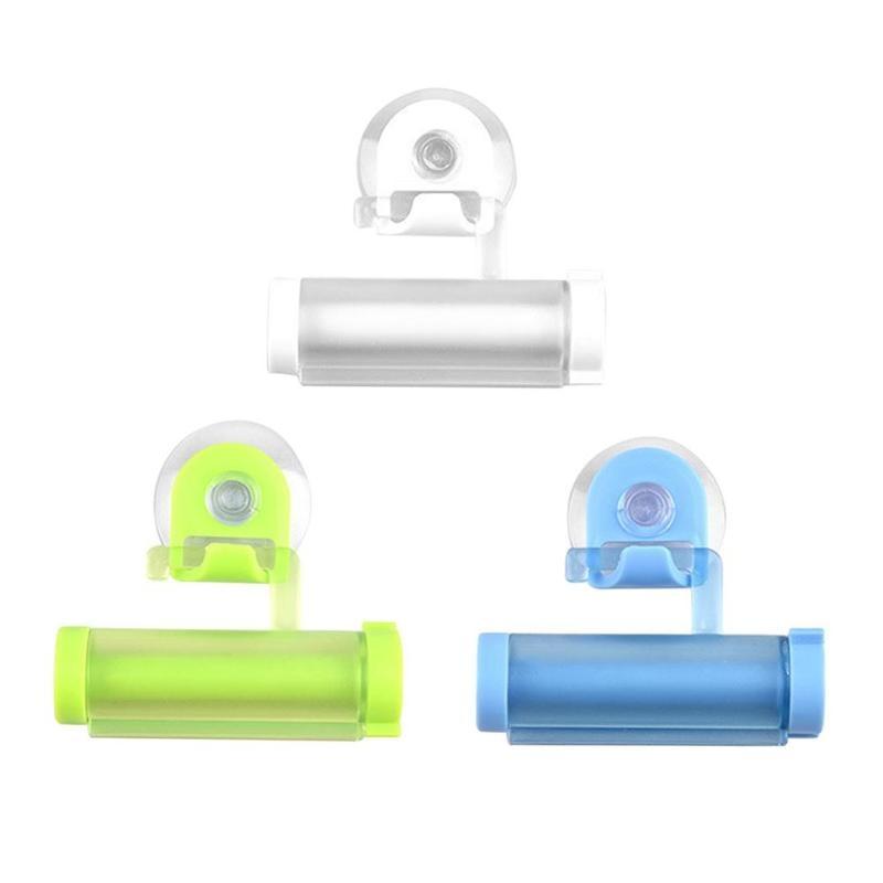 Plastic Toothpaste Dispenser Sucker Holder Rolling Tube Squeezer Dental Cream Bathroom Manual Syringe Gun Dispenser 2