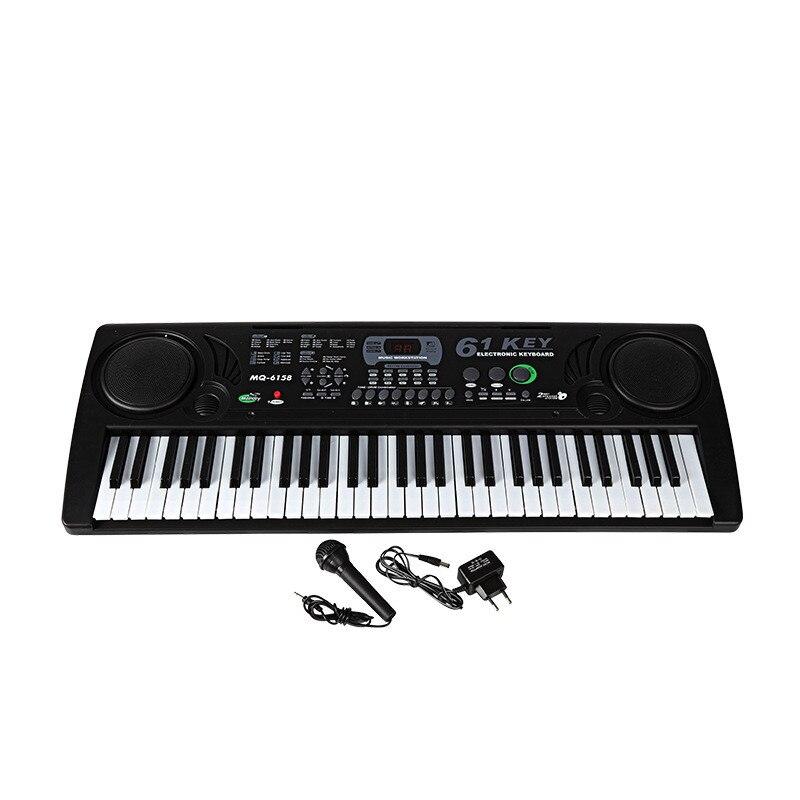61 Ключи электронный пианино электрический орган с микрофоном/адаптер раннего образования инструмент для детей начинающих