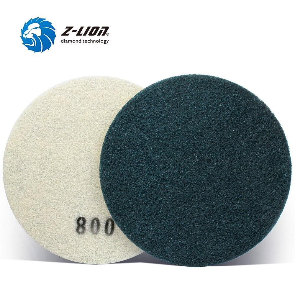 Z-LION 17 губка полировальником Алмазный шлифовальный диск для бетона Мрамор каменный пол очистки, волокно тонкого помола Pad