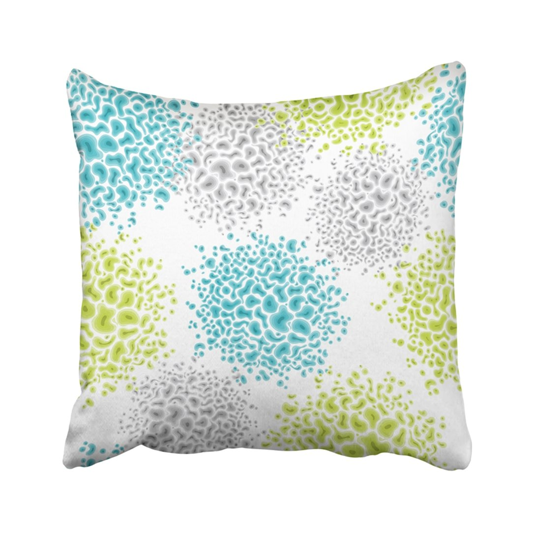 Pillow Cover Blue Human With CellsVirus Microbe Green Organic Abstract Bacteria Bacterium Bio  PillowCase Two Sides Print Home