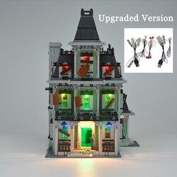 MTELE LED luz Kit para la ciudad de peleador monstruoso casa embrujada bloques de construcción conjunto de luz Compatible con el modelo 10228