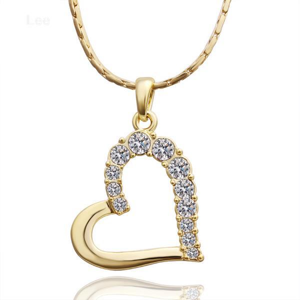 classic heart necklace with rhinestone saudi gold necklace for women new  fashion necklace 78b47a26ba
