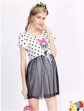 Retail Sale 100 Polyester Lady Women font b Clothes b font Lace Cartoon Print font b