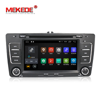 Quad Core 2 Din Android7.1 2Din Car PC For Skoda Fabia Yeti Superb Octavia With Auto DVD GPS CANBUS WiFi , Resolution: 1024*600