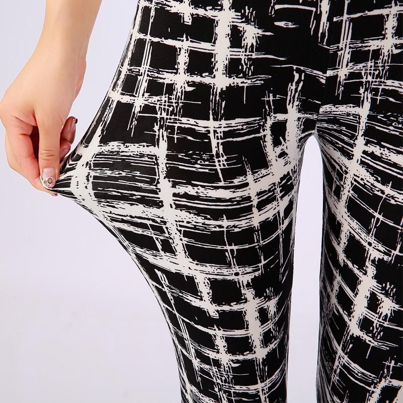 TOIVOTUKSIA Women Leggings Pantalones Black Milk Print Leggings Summer Style Soft Skin Material Nine Women Leggins 12