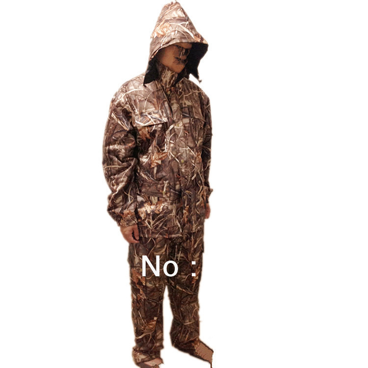 Windproof Reed Bionic Camouflage pattern Duck Shooting Game Clothes Suits tombo 2010 aero reed d