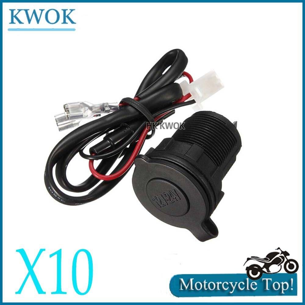 motorcycle 12v 24v waterproof cigarette lighter charger car motorcycle port usb splitter moto. Black Bedroom Furniture Sets. Home Design Ideas