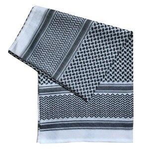 Image 4 - 140x140CM męskie chusty Turban muzułmanin Arab dubaj Retro geometryczne faliste wzory żakardowe plac szalik szal hidżab muzułmański
