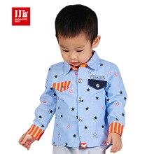 Babys garçons de bande dessinée étoiles blouses enfants à manches longues chemises de mode coton col v tops