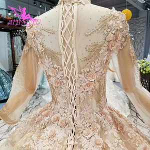 Image 4 - AIJINGYU Womens Wedding Dresses Robe Size Plus Lace Marvel Beads Ready Made Vintage Country Gown Wedding Gowns