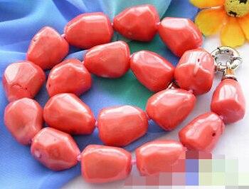 Envío Gratis >@@> 1011 masiva Rosa collar con cuentas color coral
