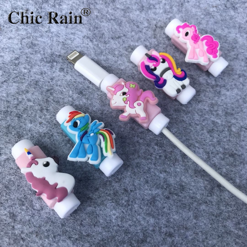 My Little Pony Cartoon Cable Protector Data Line Cord Protector Protective Case Cable Winder Cover For IPhone USB Charging Cable