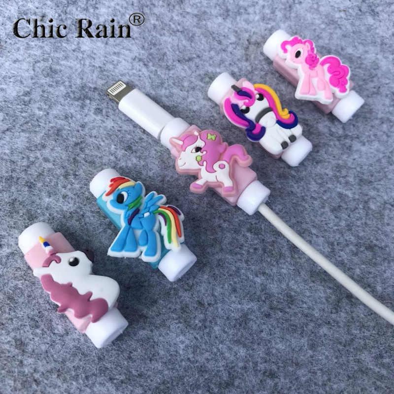 My Little Pony мультфильм кабель протектор линии передачи данных шнур протектор Защитный чехол намотки кабеля крышка для iPhone зарядка через usb кабель