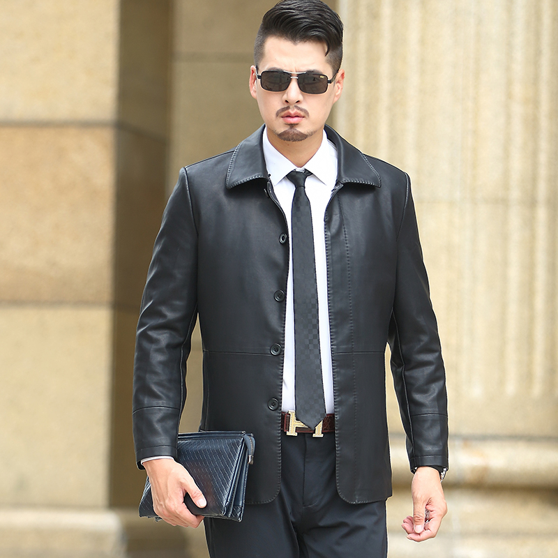 KUYOMENS New Men Leather Jacket Autumn Men Soft PU Leather Jacket & Suit Business Casual Coats Male Jaqueta Masculinas Couro