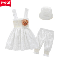HOT Retail And Whosale Free Shipping 2013 Summer 3pcs Baby Girl Kid Ruffle Top Pants Hat