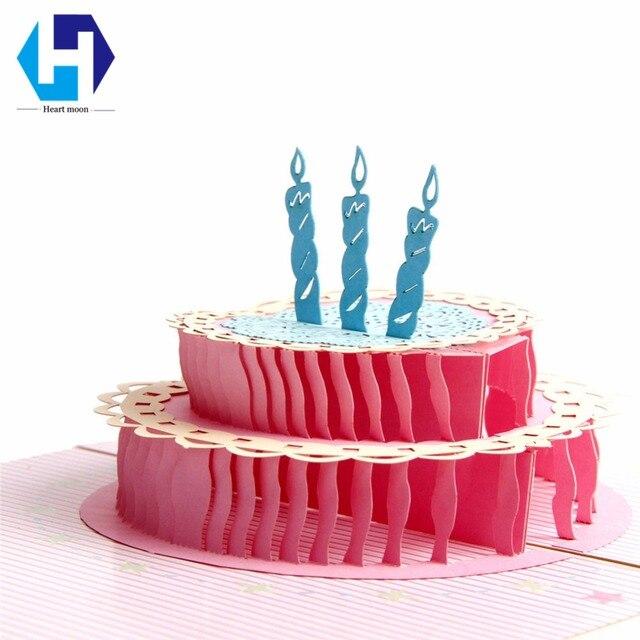 3d pop up birthday cake invitation card laser cutting hollow carved 3d pop up birthday cake invitation card laser cutting hollow carved greeting card envelope postcard handmade bookmarktalkfo Gallery